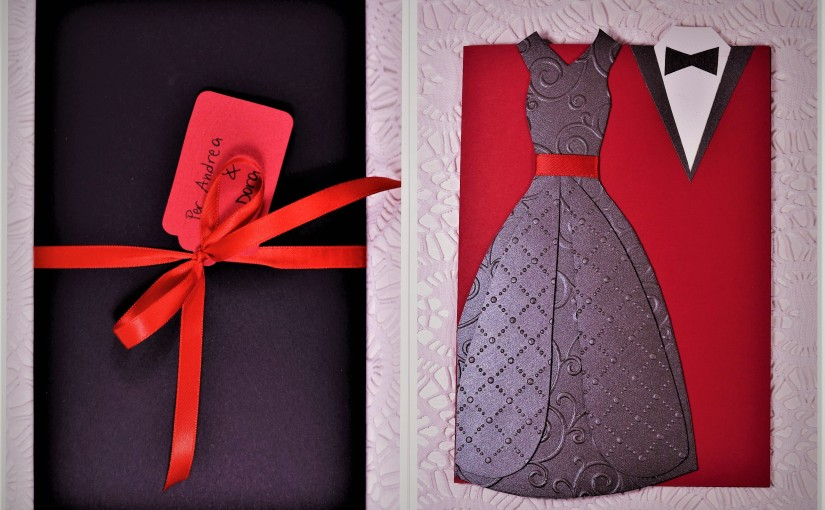 Happy Gothic Wedding! Handmade (with love) paper card